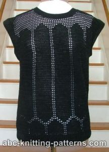 Black Openwork Summer Top