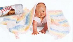 Rainbow Striped Baby Throw