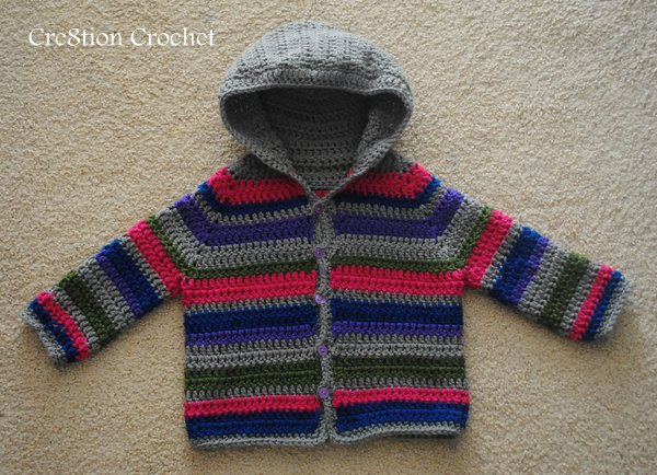 Crochet Patterns Galore Toddler Striped Sweater