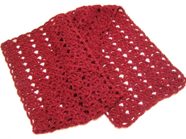 Crochet Patterns Galore Quick Lacy Shell Scarf