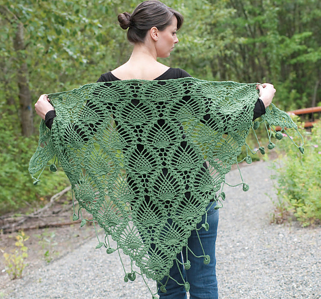 Crochet Patterns Galore - Alpine Shawl