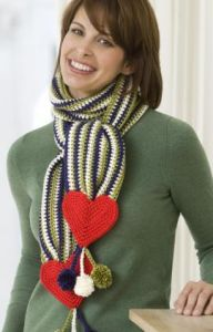Hearts & Stripes Scarf