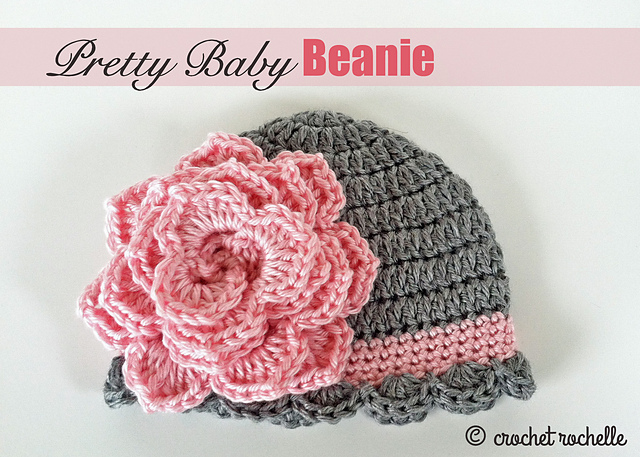 Crochet Patterns Galore Pretty Baby Beanie