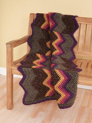 Crochet Patterns Galore Rustic Ripple Afghan