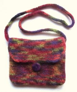Simple Felted Crocheted Purse