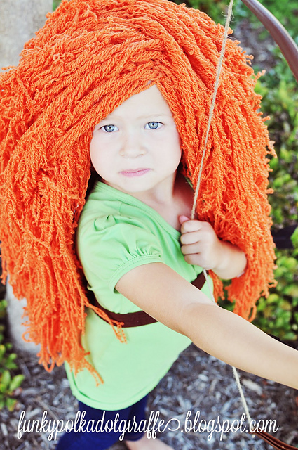 Crochet Patterns Galore Princess Merida Costume Wig