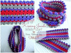 Kissing Jewels Infinity Scarf