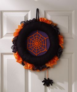 Spiderweb Halloween Wreath