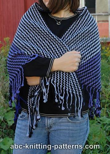 Crochet Patterns Galore Dreamworld Scrap Shawl With Crocheted Fringe