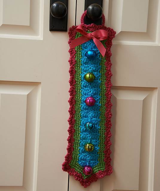 Crochet Patterns Galore Jingle Bells Door Hanger