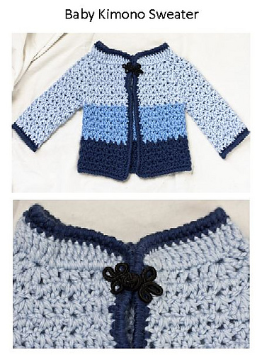 Crochet Patterns Galore Baby Kimono Sweater