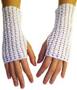 Crochet Thread Fingerless Gloves