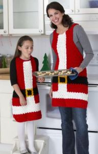 Santa's Aprons for Kids and Adults