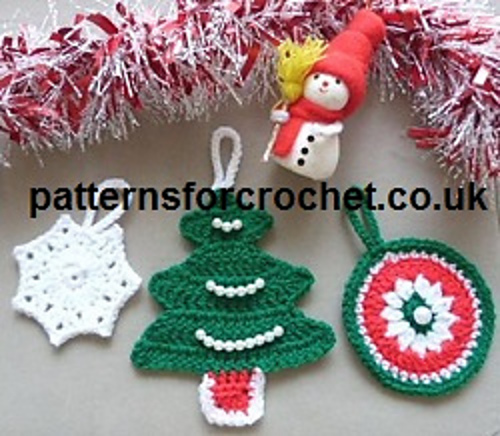 Crochet Patterns Xmas Tree Decorations : Crochet Patterns Galore - Christmas Tree Decorations
