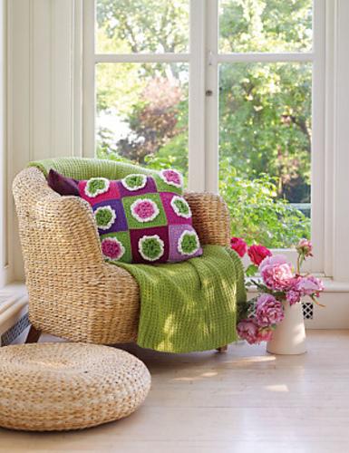 Crochet Patterns Galore Big Bloom Block Amp Pillow