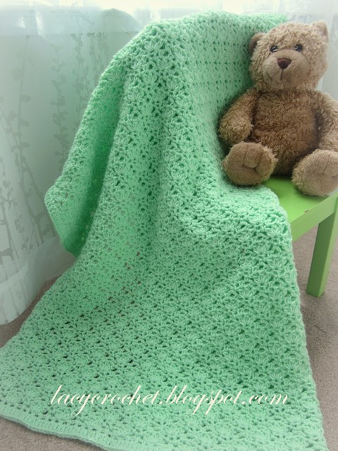 Crochet Patterns Galore Green Baby Blanket