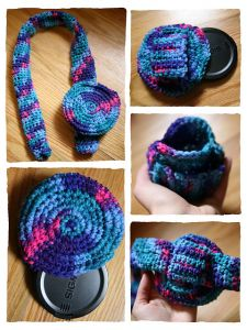 Crochet Camera Strap Cover And Lens Pouch