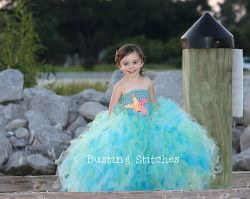 Mermaid Style Princess Tutu Dress