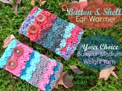 Shell and Button Ear Warmer