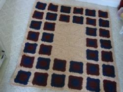 Burgundy and Navy Rug