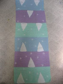 Snow Trees Table Runner