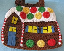 Pair of ginger Bread House Gift bags