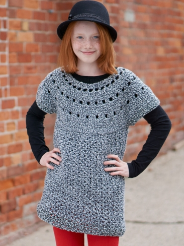 Top Down Knitting Patterns For Children Free : Crochet Patterns Galore - Top Down Tunic