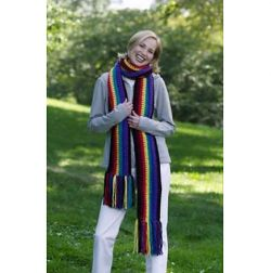 Striped Fringed Scarf