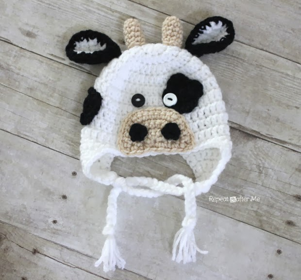 Crochet Patterns Galore - Crochet Cow Hat 6c2af19eaf1