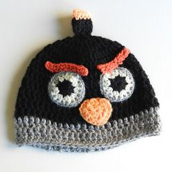 Child's Black Angry Birds Hat