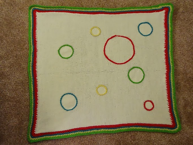 Crochet Patterns Galore Dr Seuss Circle Themed Baby Blanket