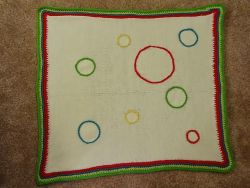 Dr. Seuss Circle Themed Baby Blanket