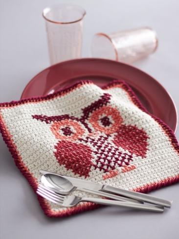 Crochet Patterns Galore Owl Cross Stitch Dishcloth