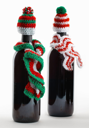 Crochet Patterns Galore Crochet Wine Bottle Hats Amp Scarves