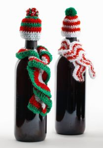 Crochet Wine Bottle Hats & Scarves