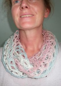 Butterfly Wedding Cowl / Infinity Scarf