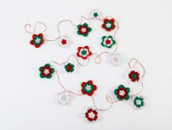 Crocheted Star Garland
