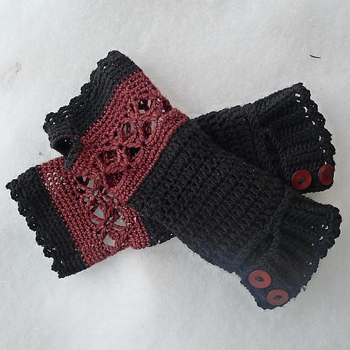 Crochet Patterns Galore Autumn Wrist Warmers