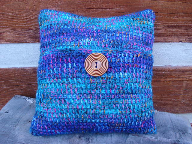 Crochet Patterns Galore Tunisian Crochet Gypsy Pillow Cover