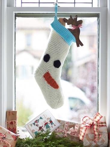 Crochet Patterns Galore Snowman Christmas Stocking