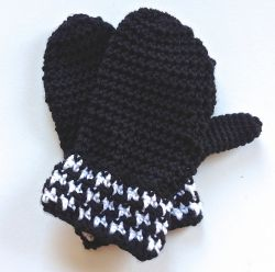 Houndstooth Mittens Fingerless Goves