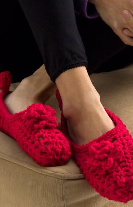 Crochet Patterns Galore Double Sole Slippers