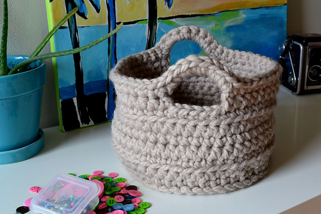 Crochet Patterns Galore Chunky Crocheted Basket