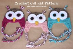Crochet Owl Hats