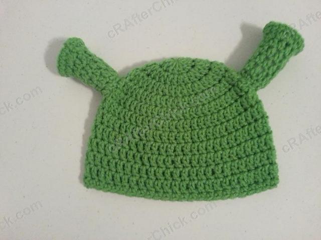 Crochet Patterns Galore Shrek Ear Costume Beanie Hat