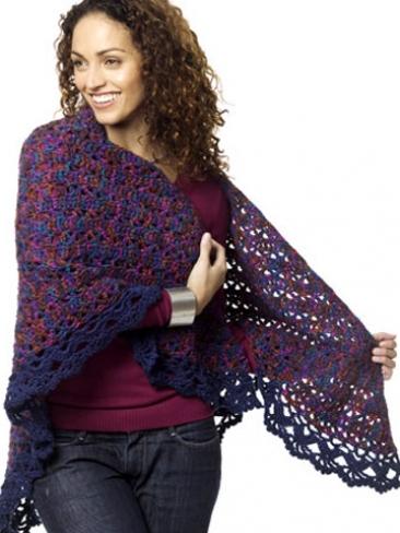 Crochet Patterns Galore Harlequin Shawl
