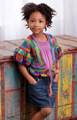 Crochet Patterns Galore Little Girl S Puffy Sleeve Sweater