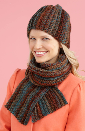 Crochet Patterns Galore Easy Peasy Hat And Scarf Set