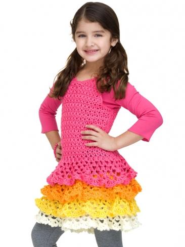 Crochet Patterns Galore Rows O Ruffles Dress