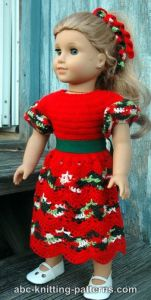 American Girl Doll Perfect Christmas Dress